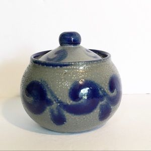 Pottery pot salt glaze Germany salt cellar